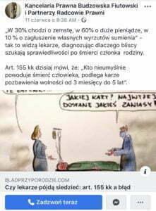 FB: Kancelaria Prawna Budzowska Fiutowski i Partnerzy